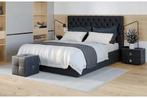 Кровати с мягкими спинками, интерьерные кровати (28)