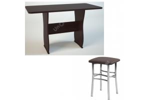 Обеденная группа: Обеденный стол СО-2+ табурет Квадрат 2 шт