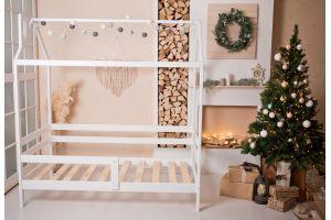 Кроватка-домик Классика белая