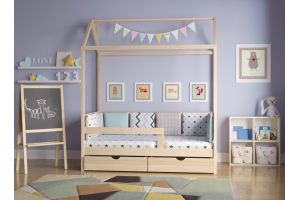 Кроватка-домик Классика без покраски