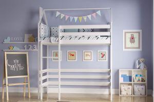Кроватка детская Чердак белый