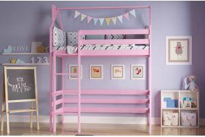 Кроватка детская Чердак цветная