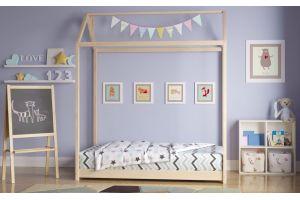 Кроватка-домик Монтессори без покраски