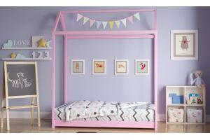 Кроватка-домик Монтессори цветная