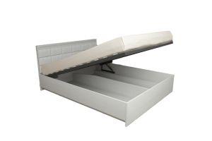 Азалия МДФ,  №16ПМ - Кровать 1600мм + Мягкий элемент, с подъемным механизмом