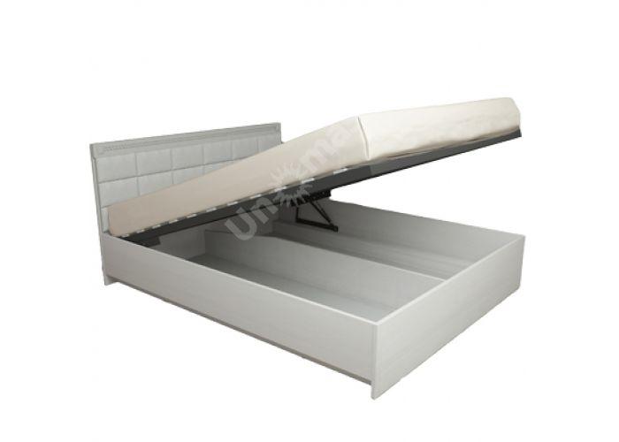 Азалия МДФ,  №16ПМ - Кровать 1600мм + Мягкий элемент, с подъемным механизмом, Спальни, Кровати, Стоимость 22922 рублей.