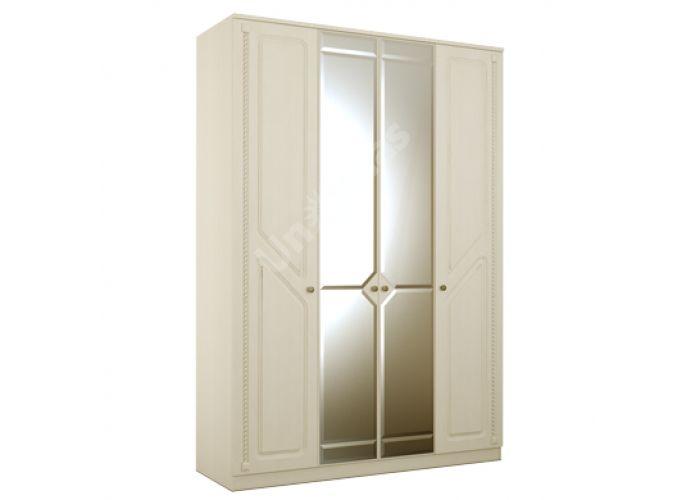 Азалия МДФ,  №24 с зеркалом - Шкаф 4-створчатый