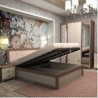Жасмин, №14ПМ - Кровать на 1400 мм подъем механический, мягкий элемент с ортопедическим основанием