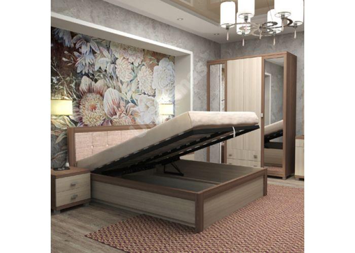 Жасмин, №16ПМ - Кровать на 1600 мм подъем механический, мягкий элемент с ортопедическим основанием, Спальни, Кровати, Стоимость 23049 рублей.