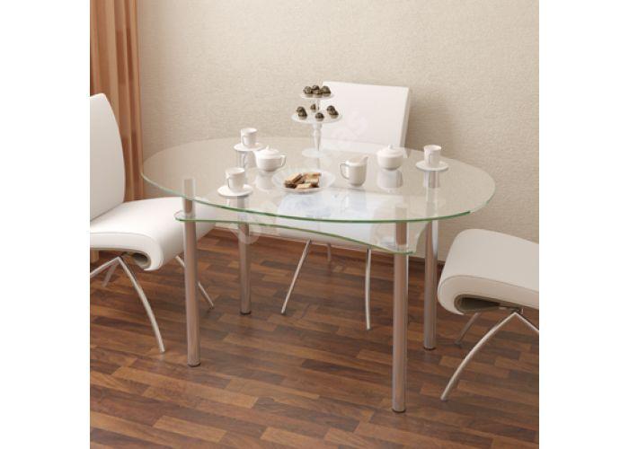 Стол обеденный Рио - 1 №2-1 (10 мм), Кухни, Обеденные столы, Стоимость 10800 рублей.