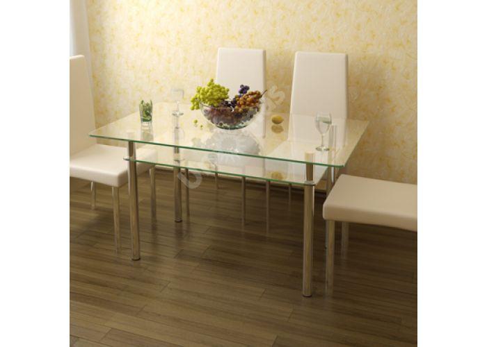 Стол обеденный Рио - 3 №2-1 (10 мм), Кухни, Обеденные столы, Стоимость 10739 рублей.