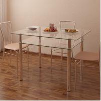 Стол обеденный Рио - 4 №2-1 (10 мм)