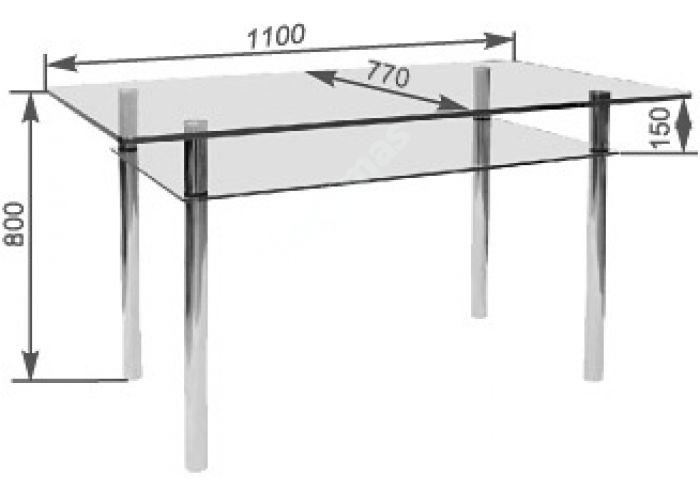 Стол обеденный Рио - 4 №2-1 (10 мм), Кухни, Обеденные столы, Стоимость 9779 рублей., фото 2