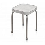 Табурет Фабрик 03 квадрат(ножки алюминий матовый, покрытие - кожзам)