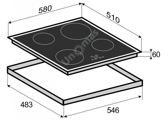 Zigmund & Shtain CIS 189.60 BK индукционная варочная поверхность, Кухни, Встроенная техника, Варочные поверхности, Стоимость 40790 рублей., фото 2