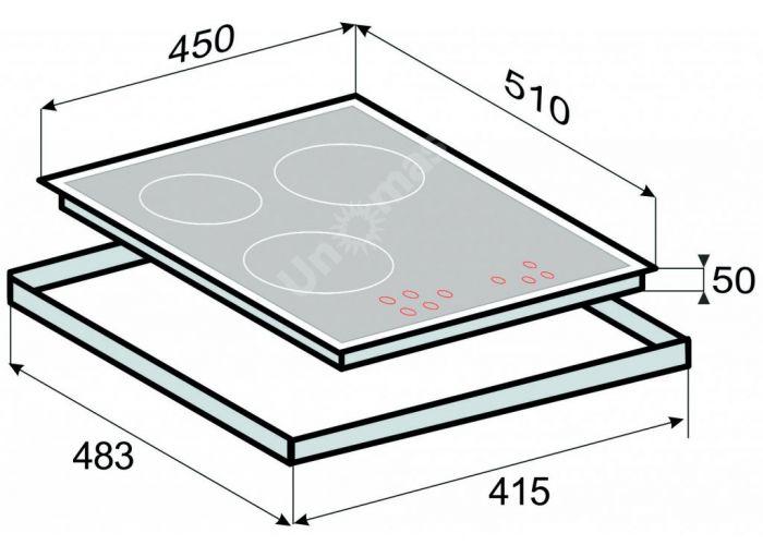 Zigmund & Shtain CNS 139.45 WX стеклокерамическая поверхность, Кухни, Встроенная техника, Варочные поверхности, Стоимость 37090 рублей., фото 2