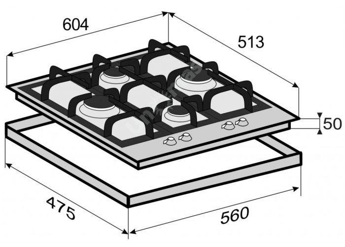 Zigmund & Shtain MN 114.61 W варочная поверхность, Кухни, Встроенная техника, Варочные поверхности, Стоимость 19290 рублей., фото 2