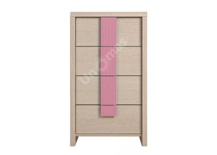 Капс Розовый, 005 Комод KOM4S/50, Спальни, Комоды, Стоимость 5556 рублей.