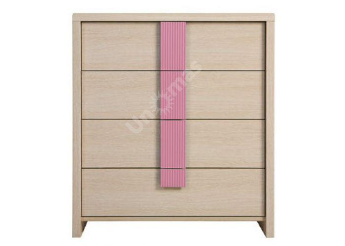 Капс Розовый, 006 Комод KOM4S/80, Спальни, Комоды, Стоимость 7631 рублей.