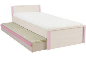 Капс Розовый, 016 Ящик кровати LOZ / 85 (матрац-ламель)