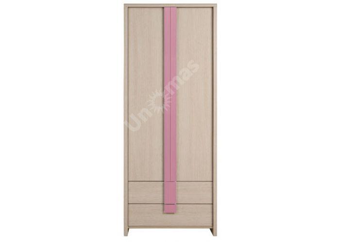 Капс Розовый, 011 Шкаф SZF2D2S, Спальни, Шкафы, Стоимость 12567 рублей.