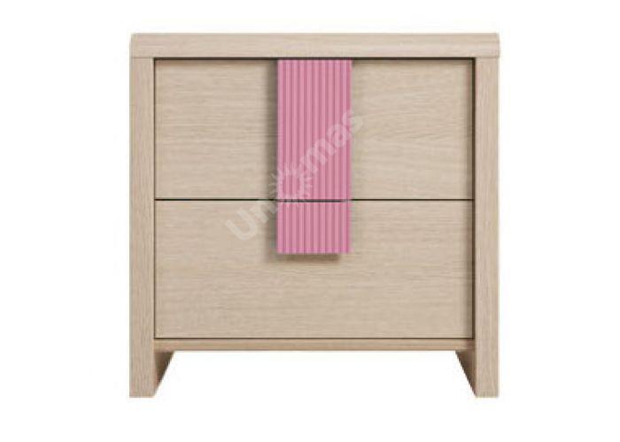 Капс Розовый, 013 Тумба прикроватная 2S, Спальни, Прикроватные тумбочки, Стоимость 3965 рублей.
