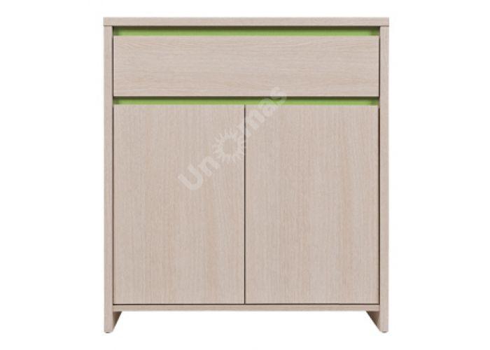 Нумлок Зеленый, 007 Комод KOM2D1S, Спальни, Комоды, Стоимость 4425 рублей.