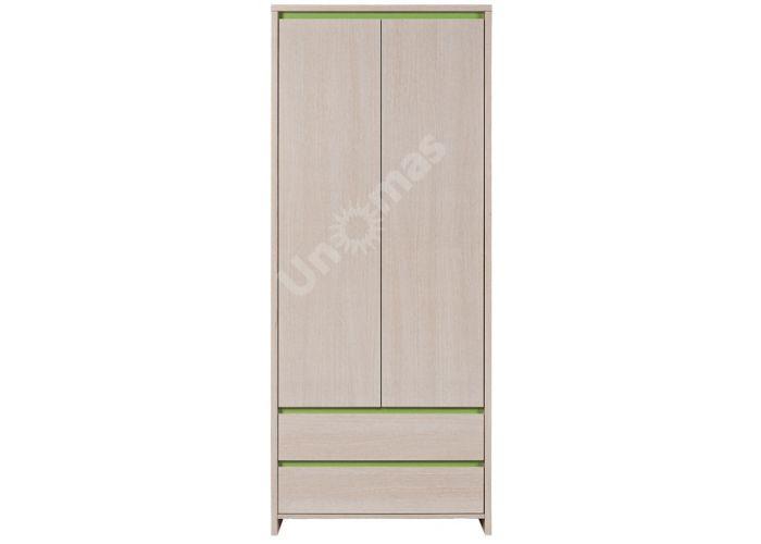 Нумлок Зеленый, 010 Шкаф SZF2D2S, Спальни, Шкафы, Стоимость 12853 рублей.