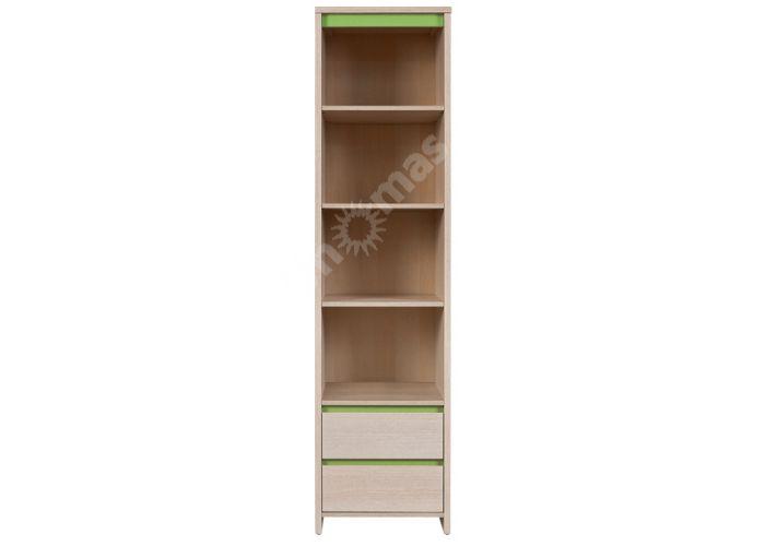 Нумлок Зеленый, 008 Пенал открытый REG2S/50, Детская мебель, Модульные детские комнаты, Нумлок Зеленый, Стоимость 6769 рублей.