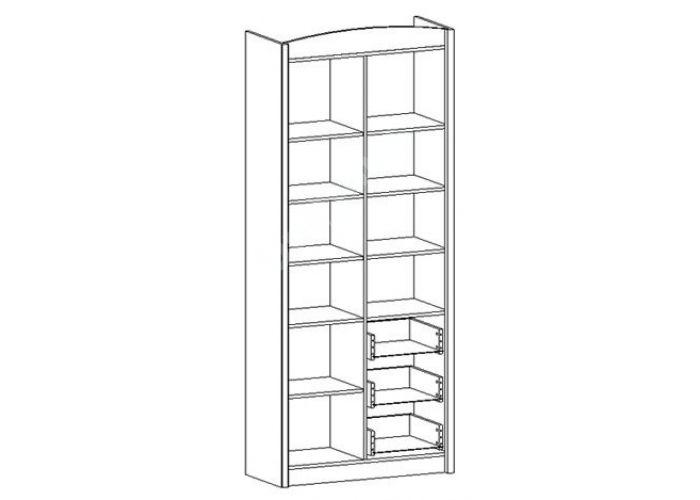 Салерно, 008 Шкаф комбинированный B18-REG3D3S, Офисная мебель, Офисные пеналы, Стоимость 23423 рублей., фото 5