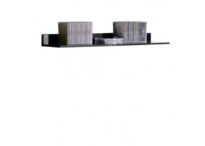 Янг (Jang) Слива валис/черный блеск, 004 Полка P 1/11, Гостиные, Полки, Стоимость 1500 рублей.