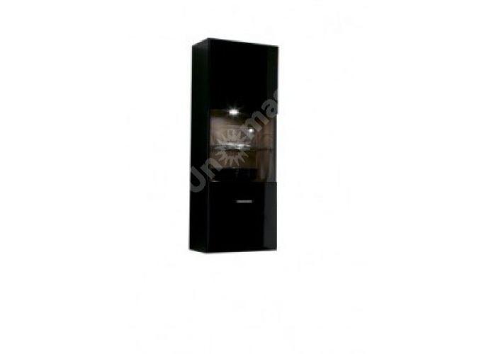 Янг (Jang) Слива валис/черный блеск, 011 Витрина навесная SFW1W, Гостиные, Витрины и буфеты, Стоимость 8850 рублей.
