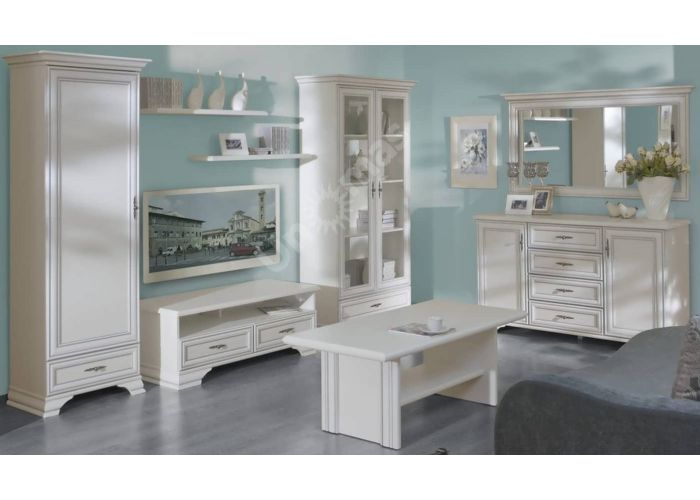 Кентаки Белый, 022 Шкаф SZF 2D1S, Спальни, Шкафы, Стоимость 20850 рублей., фото 4