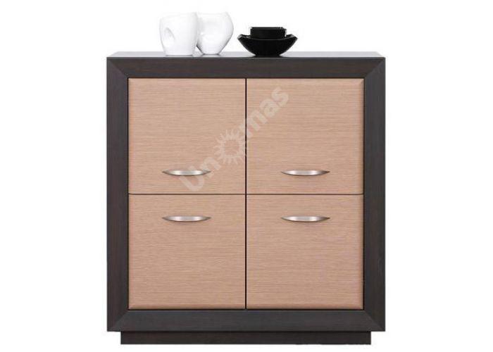 Ларго Дуб венге/Дуб тесаный, 022 Шкафчик PREG 4D/11, Спальни, Комоды, Стоимость 13913 рублей.
