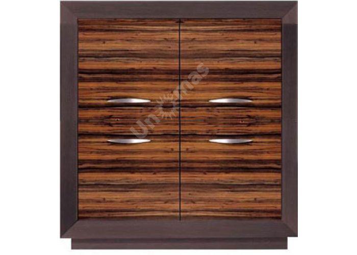 Ларго Дуб венге/Макасар, 022 Шкафчик PREG 4D/11, Спальни, Комоды, Стоимость 13913 рублей.
