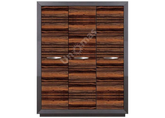 Ларго Дуб венге/Макасар, 028 Шкаф платяной PSZF 3D/21/16, Спальни, Шкафы, Стоимость 35738 рублей.