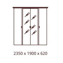 Анита, Шкаф 4-х дверный с зеркалами