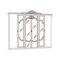 Диана, Шкаф 6-и дверный с зеркалами