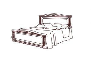 Катя, Кровать 2-х спальная  180*200