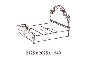 Рафаэлла, Кровать 2-х спальная (180*200)