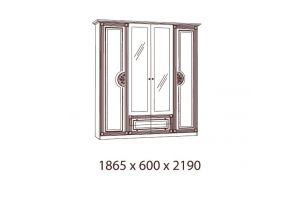 Рома, Шкаф 4-х дверный с зеркалами