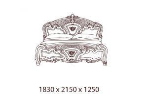 Роза, Кровать 2-х спальная 160*200