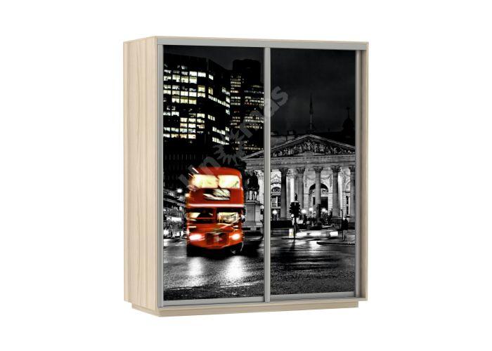 Шкаф-купе Лондон Дуо / 160 см, Шкафы-купе, Стандартные шкафы-купе, Стоимость 19290 рублей.
