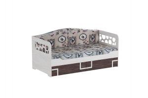 Омега 16 кровать одинарная с подушками