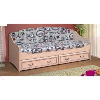 Омега 7 Кровать одинарная с 2-мя ящиками