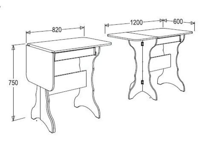 Кухонный стол-тумба-1