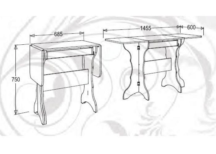 Кухонный стол-тумба-2
