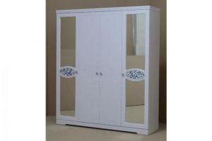 Ольга 12 МДФ шкаф 4-х дверный для одежды и белья