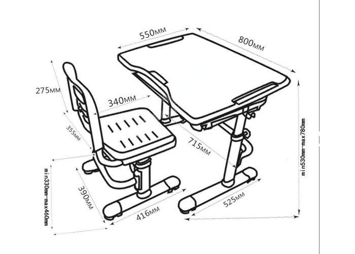 Комплект парта + стул трансформеры Vivo II, Детская мебель, Детские парты, Стоимость 8900 рублей., фото 9