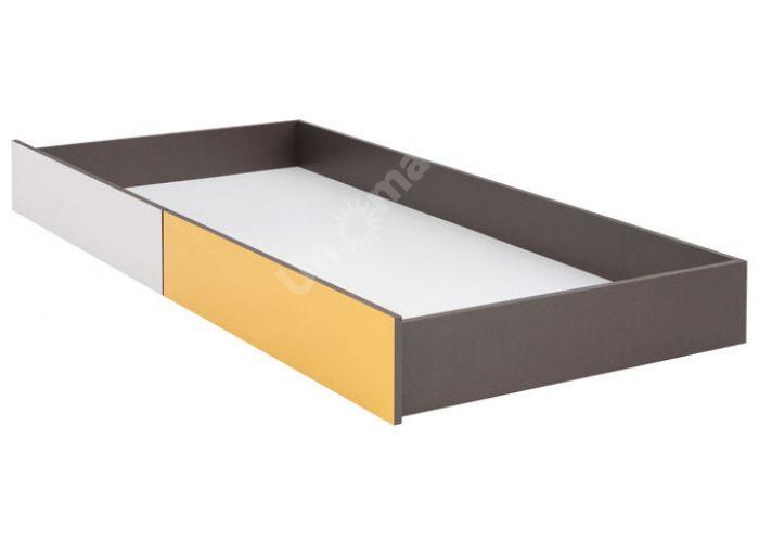 График Белый/Желтый блеск, 022 Тумба для постельных принадлежностей, Спальни, Ящики и аксессуары для кроватей, Стоимость 3975 рублей.